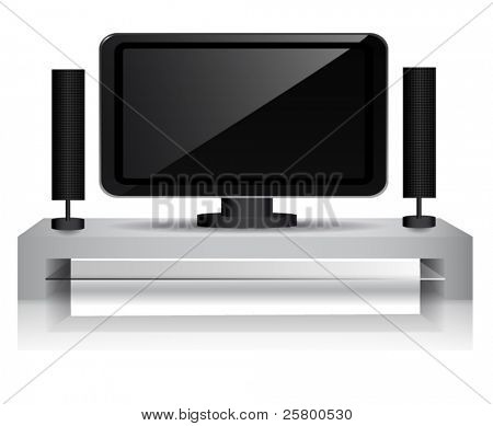 Home cinema isolated on a white background. EPS10 vector illustration.