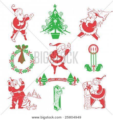 vintage Santa & Christmas designs