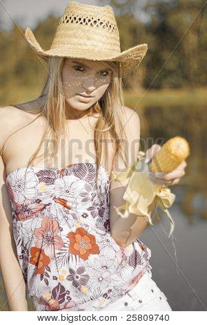 Corn Cob Cowgirl