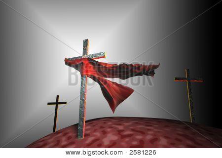 Three Crosses In Divine Light