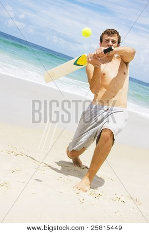 Beach Cricket Slog