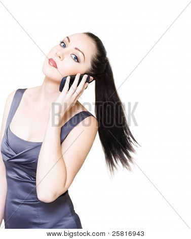 Sexy Young Business Woman On White Background