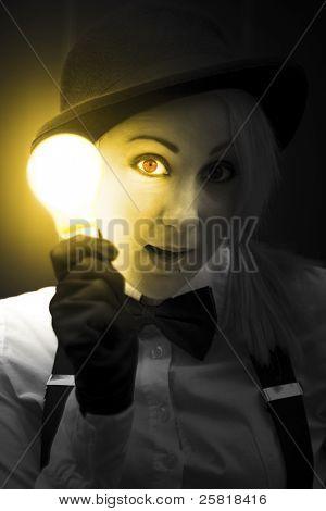 Light Bulb Lady