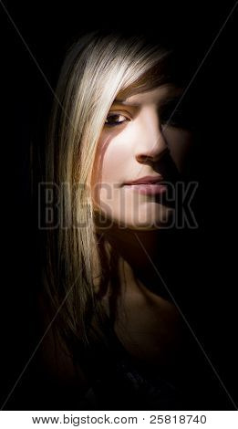 Woman Watching From The Shadows