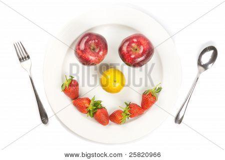 White Dish Happy