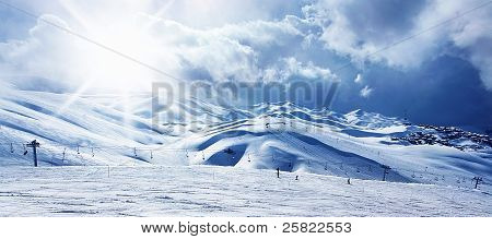 Winter Mountain Ski Resort