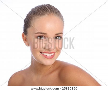 Beautiful Happy Smile By Cheerful Teenager Girl