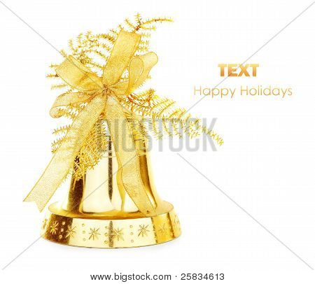 Golden Christmas Jingle Bell