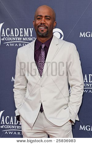 LAS VEGAS - APRIL 3 - Darius Rucker attends the 46th Annual Academy of Country Music Awards in Las Vegas, Nevada on April 3, 2011.