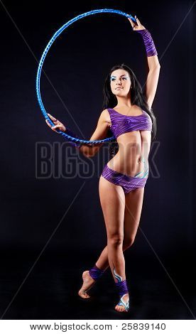 Gymnast With A Hoop