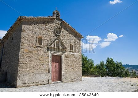 Iglesia de San Cataldo. Pietrapertosa. Basilicata. Italia.