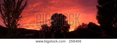 Eastern Oregon Sunset Panarama