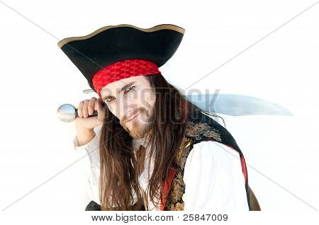 Pirate holding sword