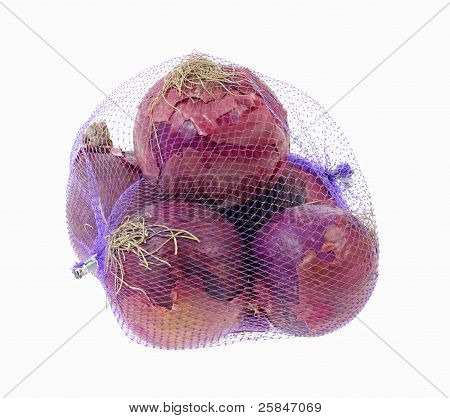 Red Onions Purple Net Bag