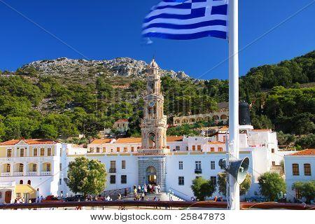 Panormitis Monastery in Symi island in Greece