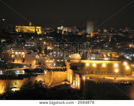 Night View Of Jerusalem