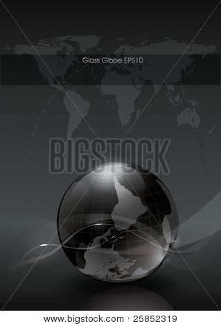 Vector Glossy Globe for Web