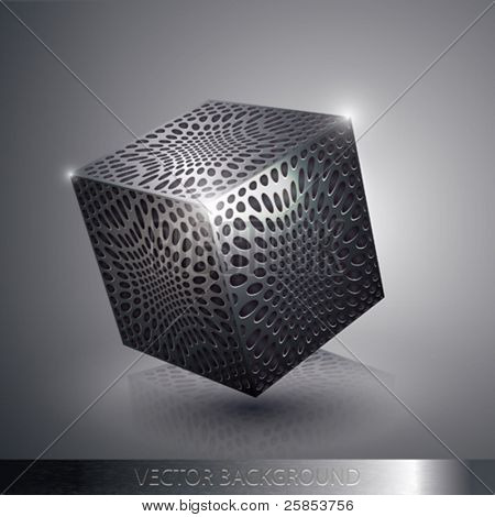 Vector Metallic Cube