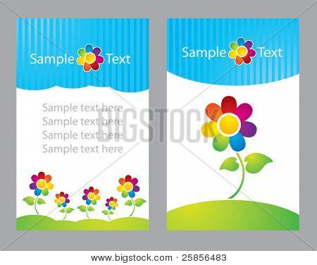 Flowers card