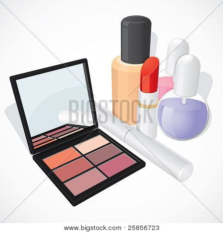 Make up set. Vector illustration