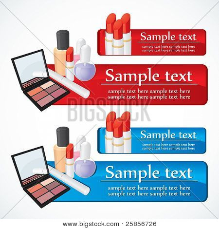 Make up set. Vector template