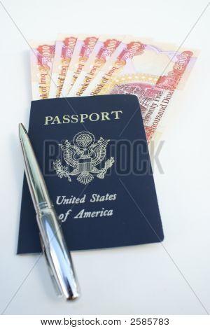 Passport To Iraq, Dinars Inside