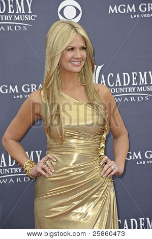 LAS VEGAS - APRIL 3 - Nancy O'Dell attends the 46th Annual Academy of Country Music Awards in Las Vegas, Nevada on April 3, 2011.