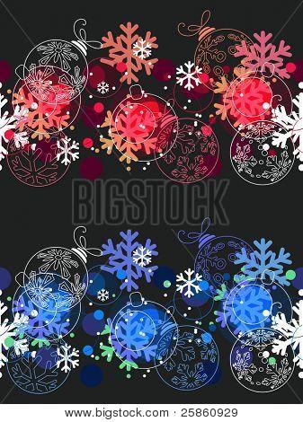 Hermosos patrones de Navidad sin fisuras. Dos variantes de color... Versión de la trama.