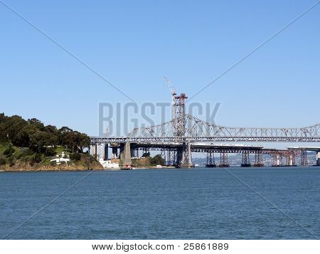 New Bay Bridge Takes Shape Behind Old Bay Bridge