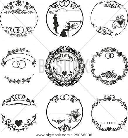 Round Frame Wedding Rings