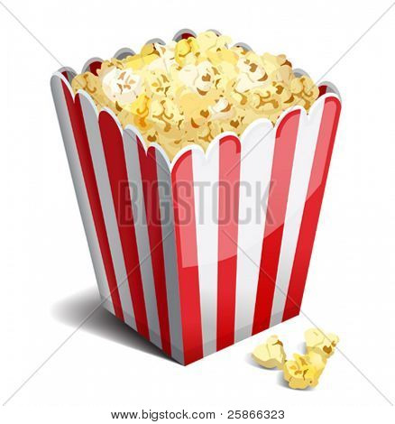 vector illustration of popcorn