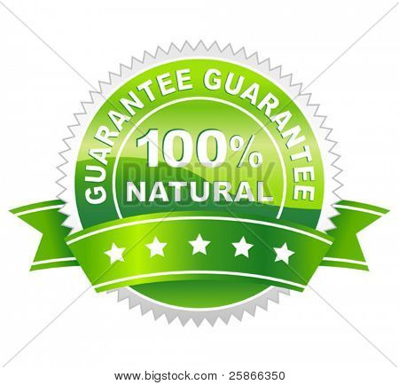 vector illustration of label natural
