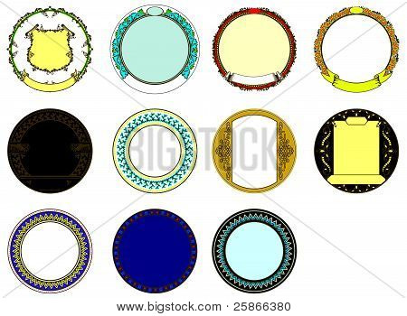 Round Bezels With Ribbons