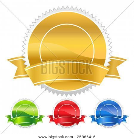 vector illustration of coloured label