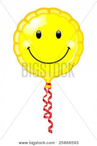 vector illustration of smiley balloon