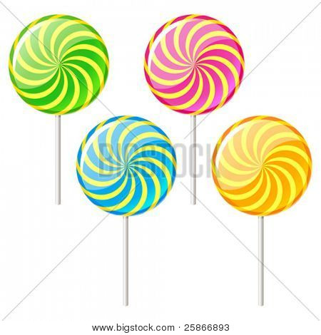 vector illustration of sugar candy