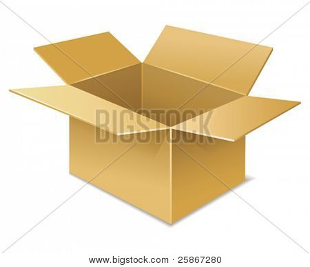 vector illustration of open box icon