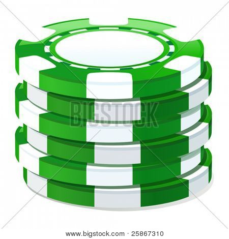 vector illustration of gambling chip