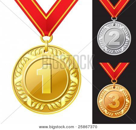 vector illustration of medal