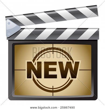 vector illustration of Film Clapboard. New