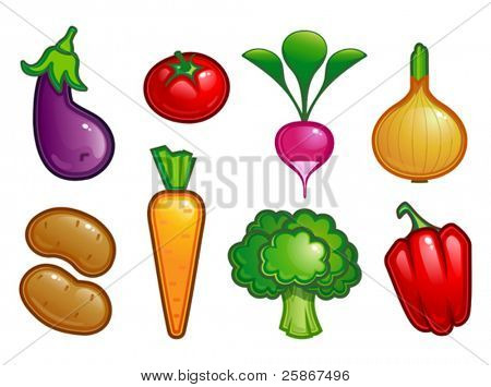 vector illustration of fresh vegetable