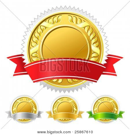 vector illustration of icon medal