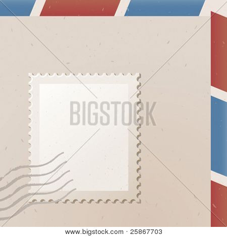 vector illustration of postage stamp