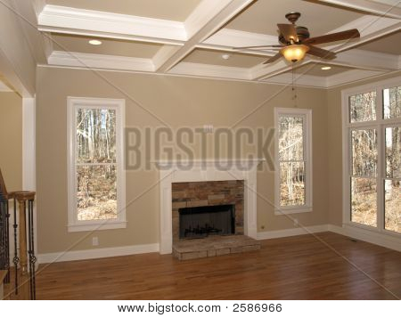 Luxury Living Room Empty