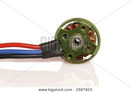 Brushless Rc Motor Isolated On White