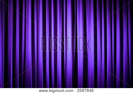 Cortina púrpura Teatro