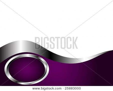 A deep purple and Silver and white Business card or Background Template