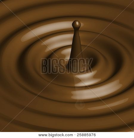 A vector illustration of a chocolate or caramel ripple with splash