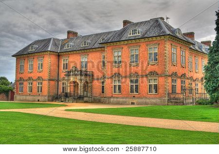 An HDR image of the seventeenth century stately home Tredegar House is a first class example of a red brick mansion