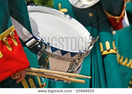 Close-up of a Soldier with a drum